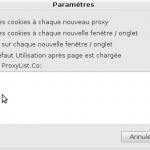 Parametres de proxy-tool pour firefox
